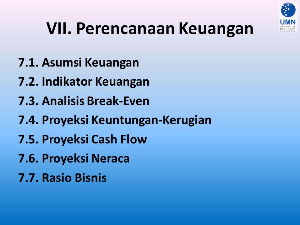 VII. Perencanaan Keuangan