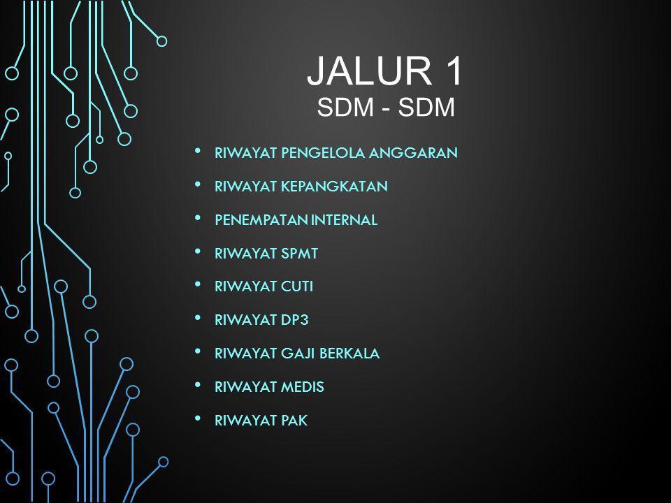 Jalur 1 SDM - SDM Riwayat Pengelola Anggaran Riwayat Kepangkatan