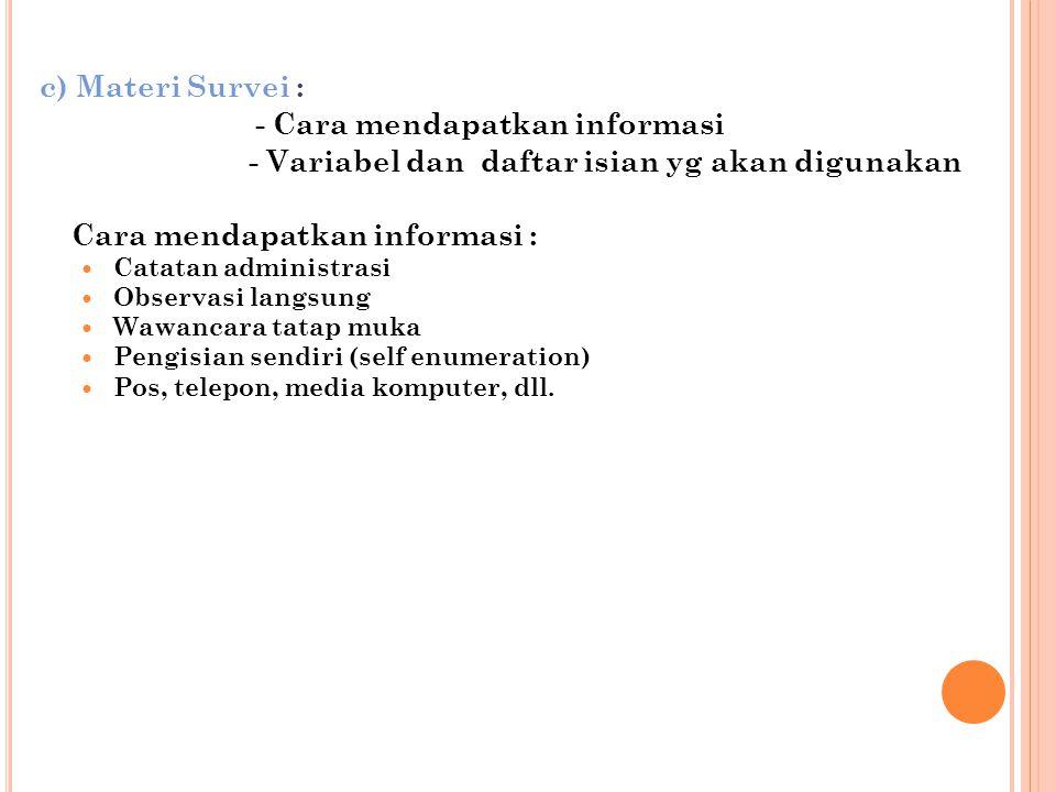 - Cara mendapatkan informasi