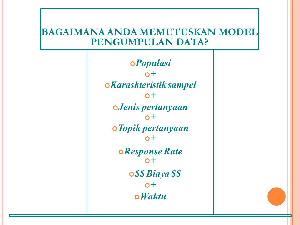 BAGAIMANA ANDA MEMUTUSKAN MODEL PENGUMPULAN DATA