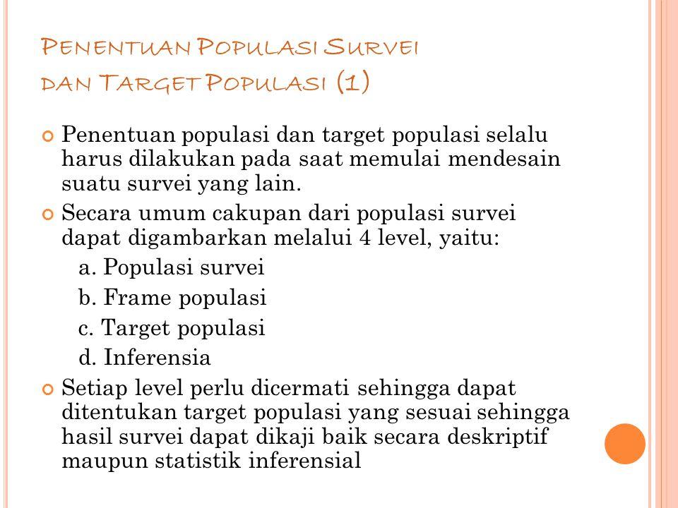 Penentuan Populasi Survei dan Target Populasi (1)