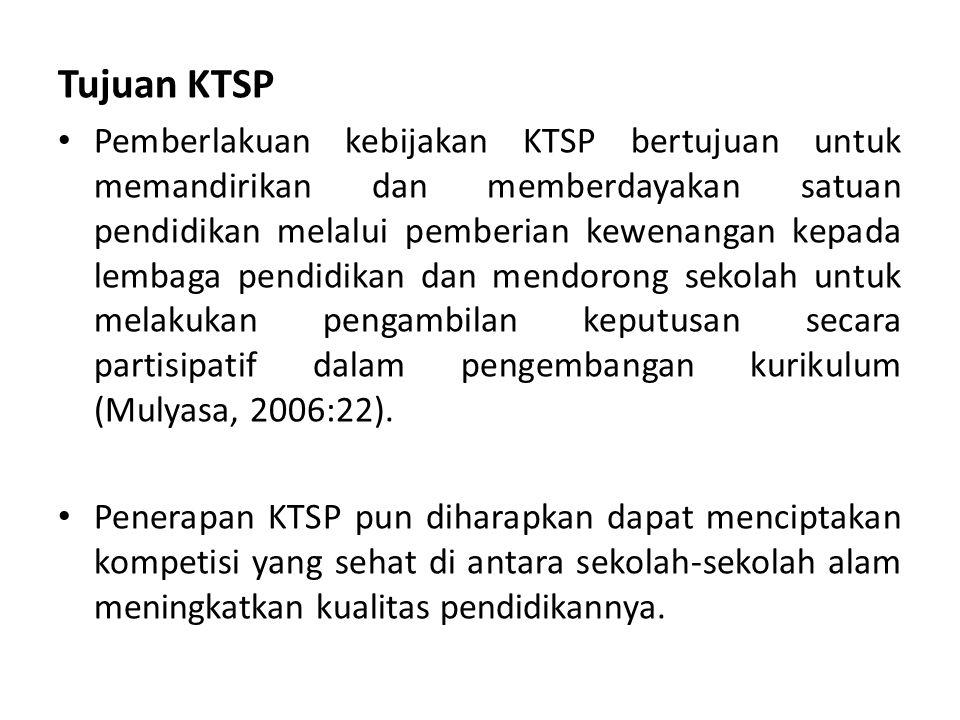 Tujuan KTSP