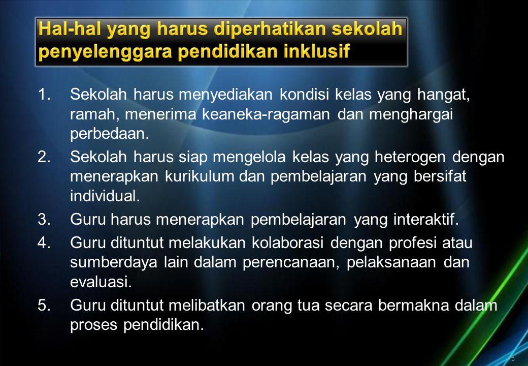 REKAPITULASI KEADAAN SEKOLAH BIASA SEBAGAI SEKOLAH INKLUSIF TAHUN 2006/2007