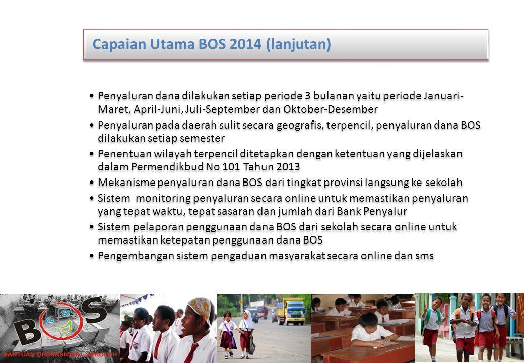 Capaian Utama BOS 2014 (lanjutan)
