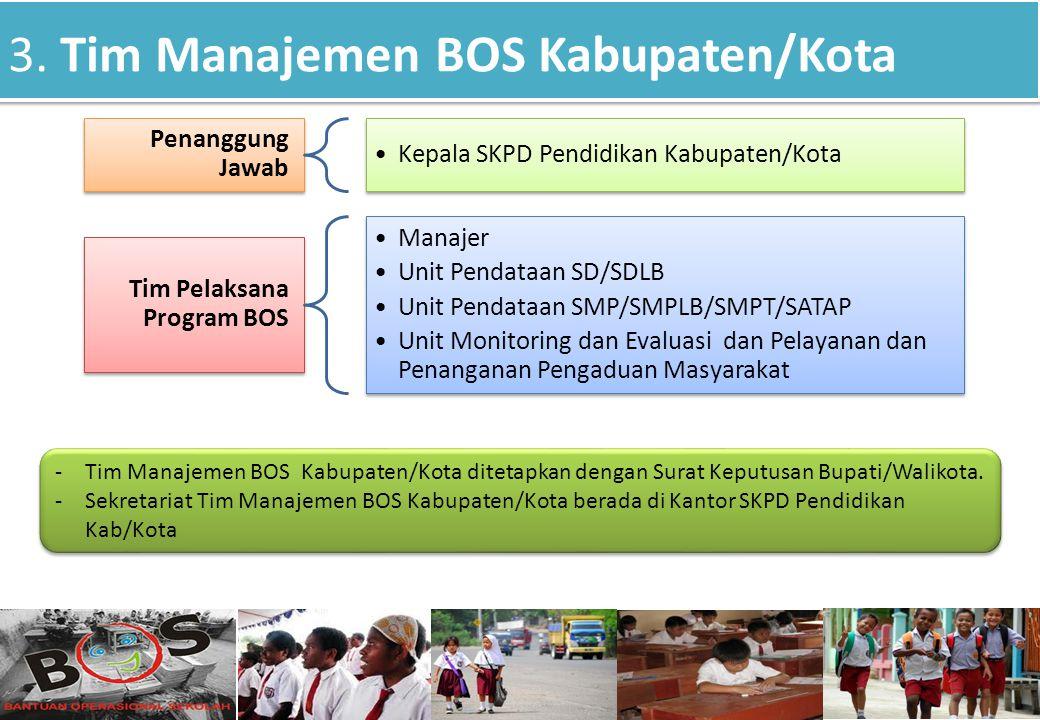 3. Tim Manajemen BOS Kabupaten/Kota
