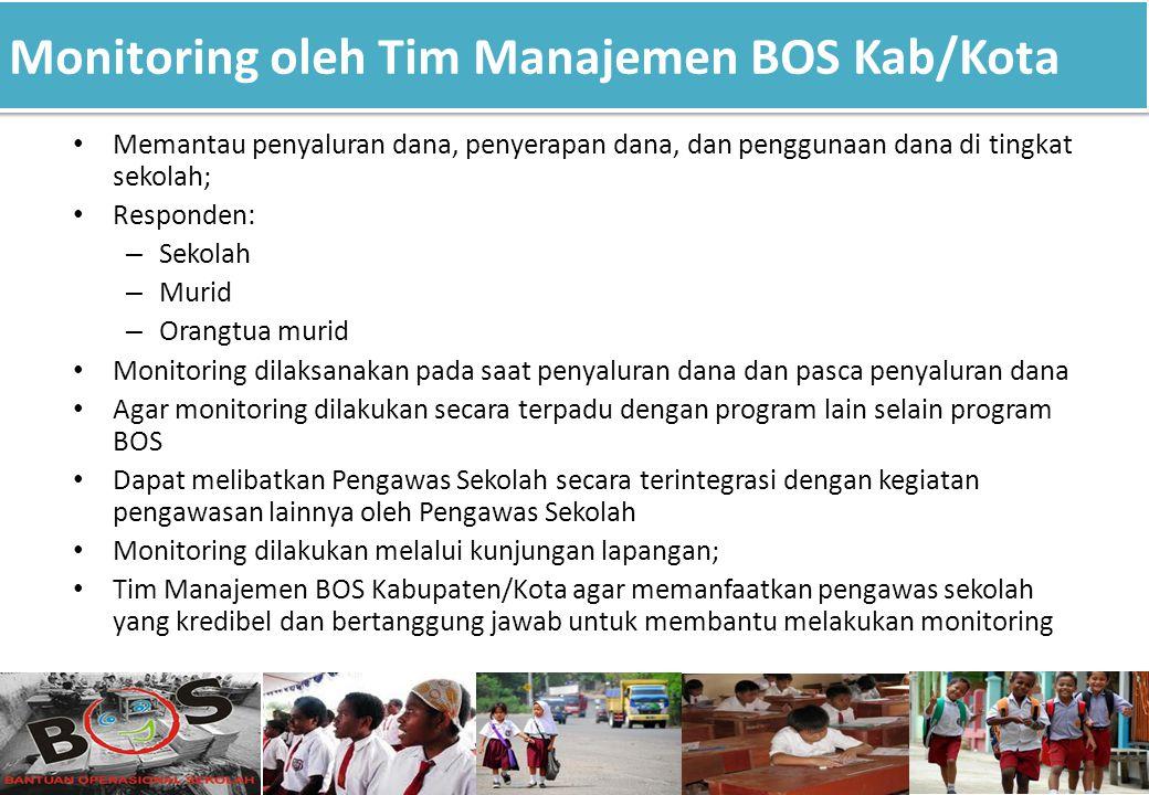 Monitoring oleh Tim Manajemen BOS Kab/Kota