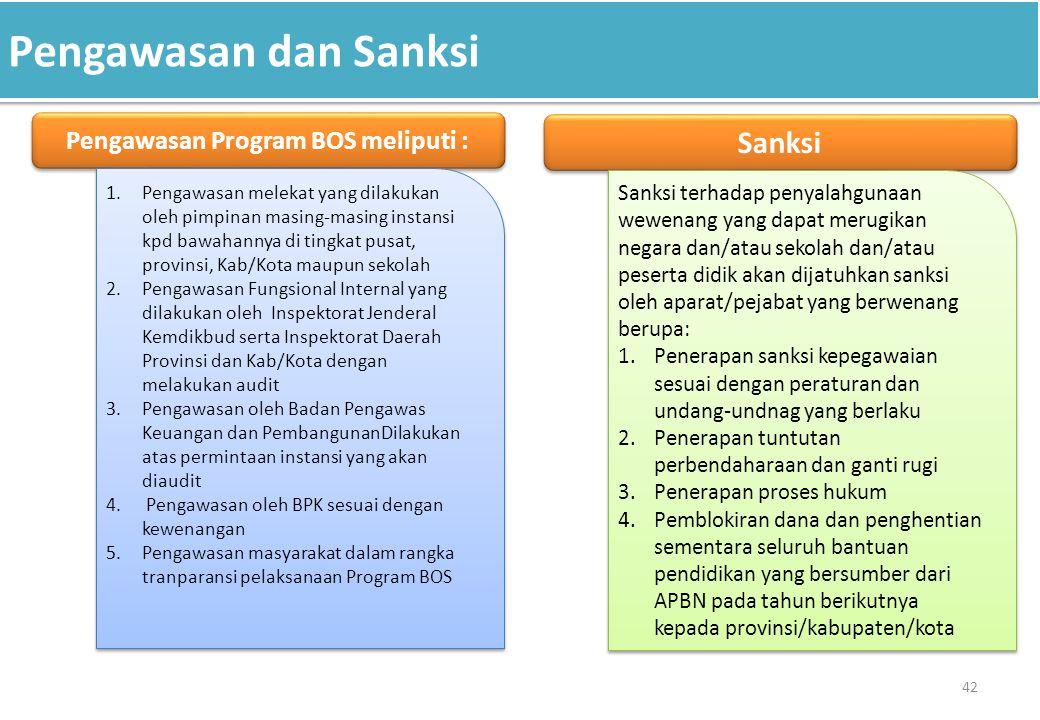 Pengawasan Program BOS meliputi :