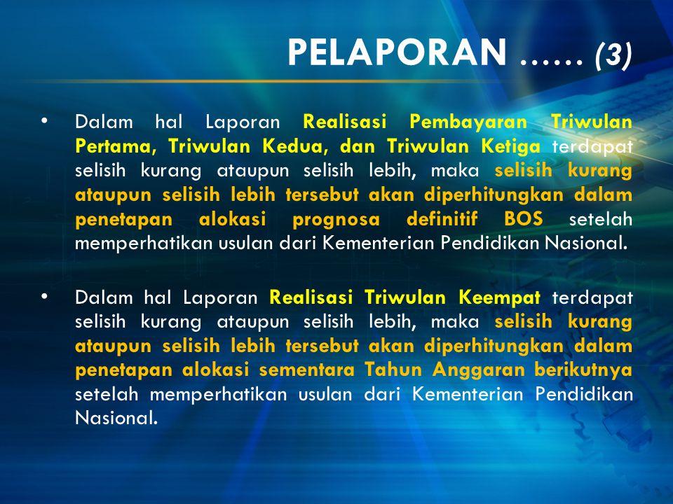 PELAPORAN …… (3)
