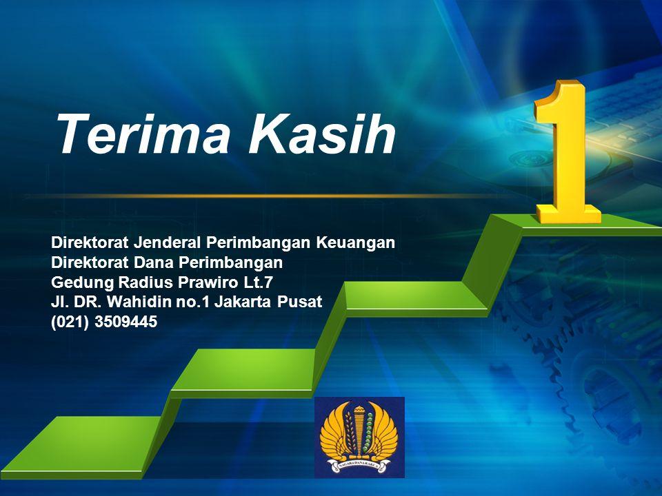 Terima Kasih Direktorat Jenderal Perimbangan Keuangan Direktorat Dana Perimbangan Gedung Radius Prawiro Lt.7 Jl.