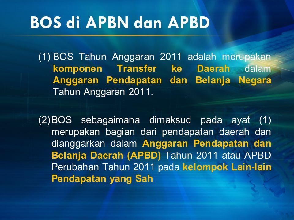 BOS di APBN dan APBD