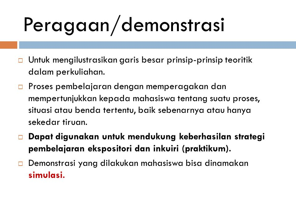 Peragaan/demonstrasi