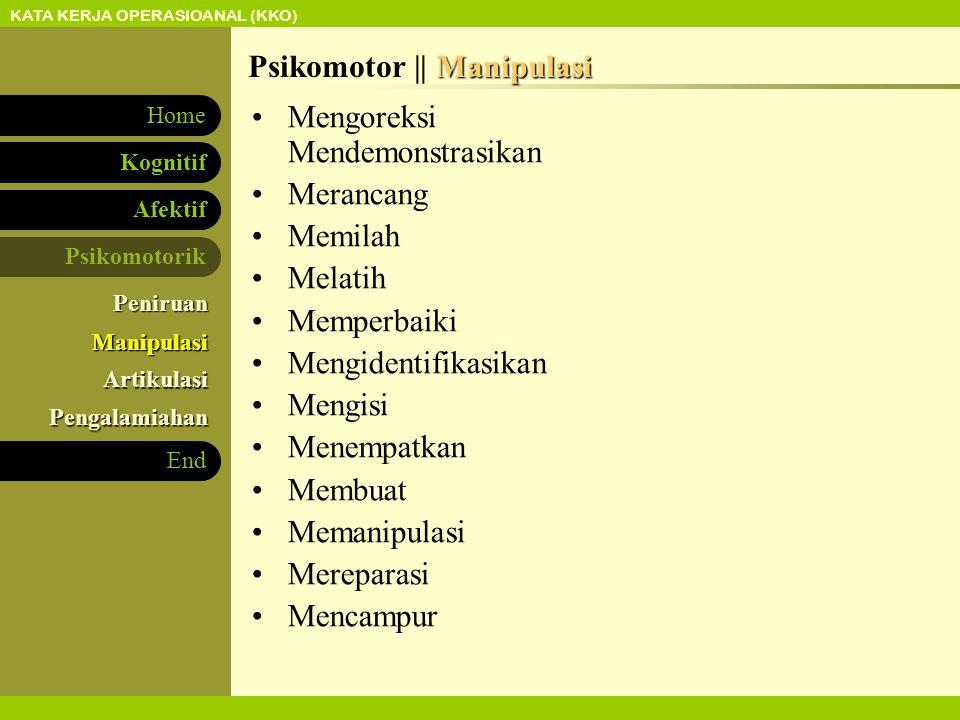 Psikomotor || Manipulasi
