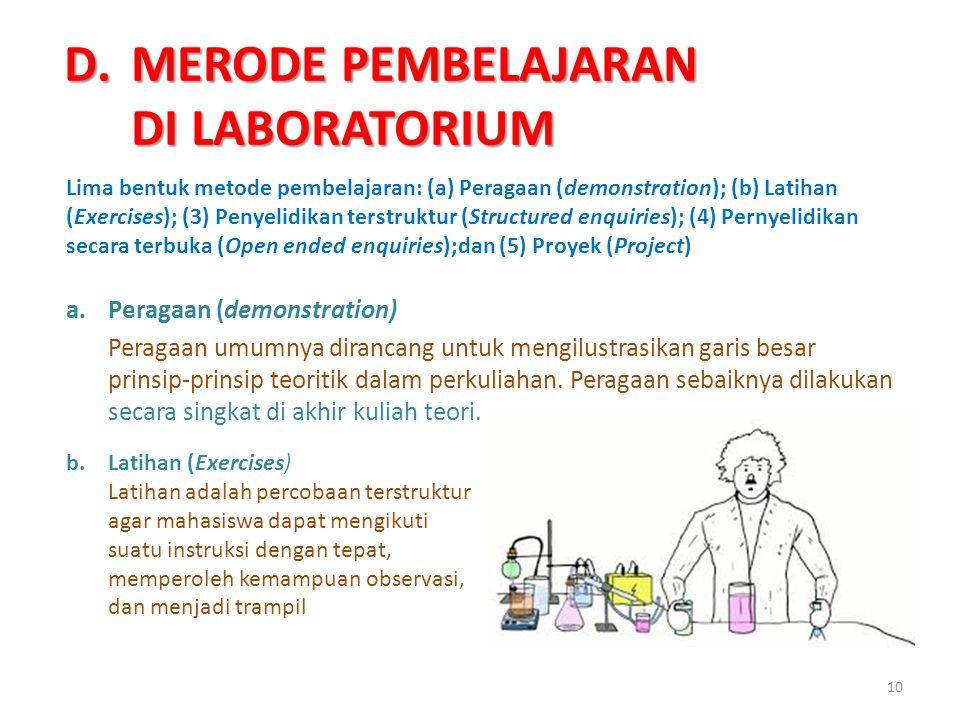 MERODE PEMBELAJARAN DI LABORATORIUM