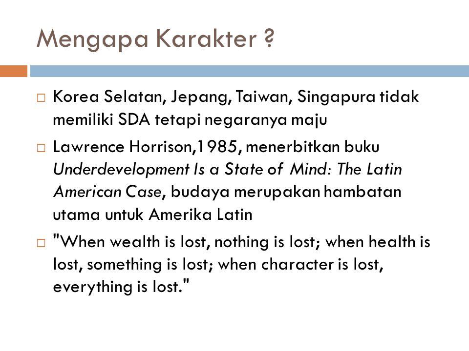 Mengapa Karakter Korea Selatan, Jepang, Taiwan, Singapura tidak memiliki SDA tetapi negaranya maju.