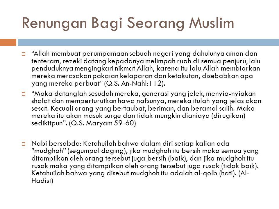 Renungan Bagi Seorang Muslim