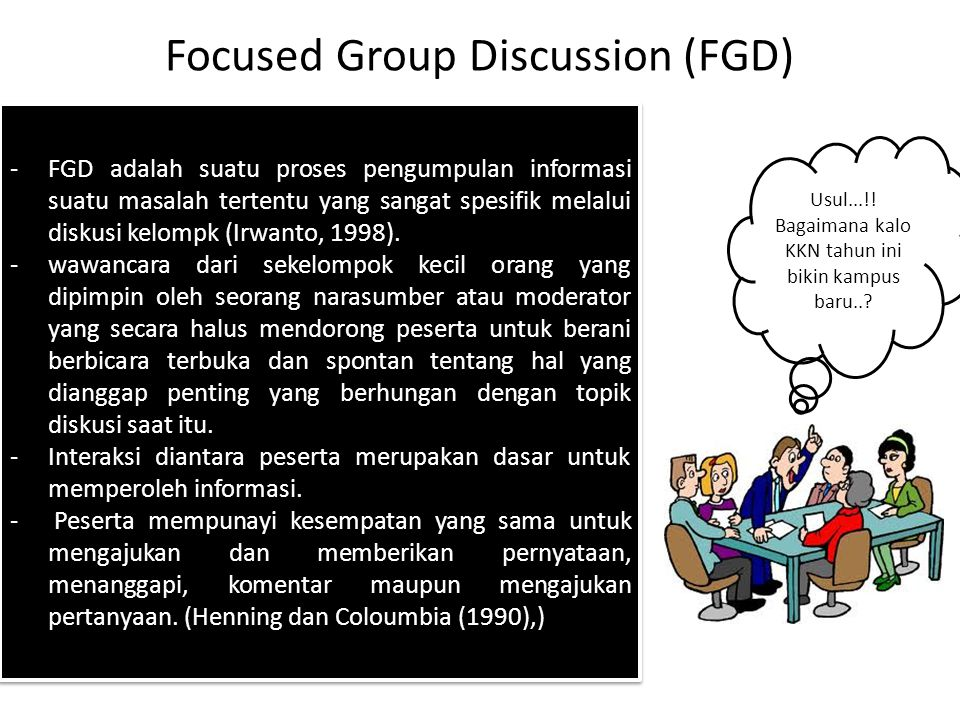 Focused Group Discussion (FGD)