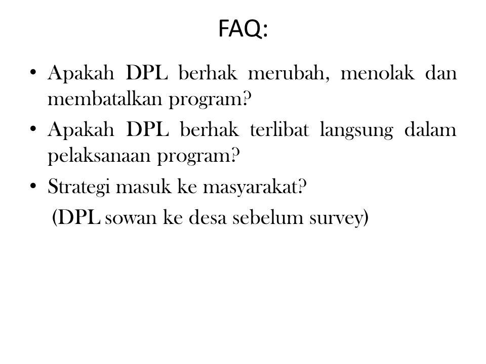 FAQ: Apakah DPL berhak merubah, menolak dan membatalkan program