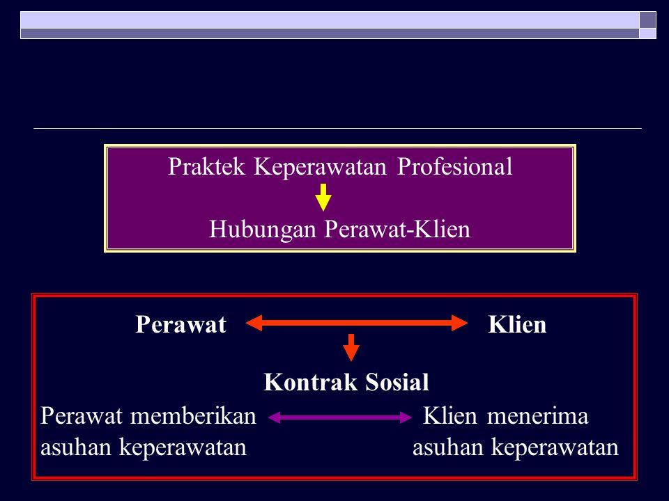 Perawat Klien Praktek Keperawatan Profesional Hubungan Perawat-Klien