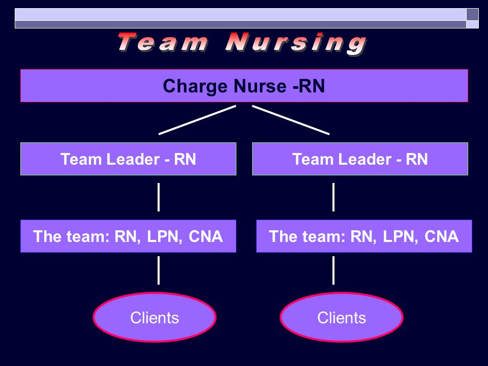 Team Nursing Charge Nurse -RN Team Leader - RN Team Leader - RN