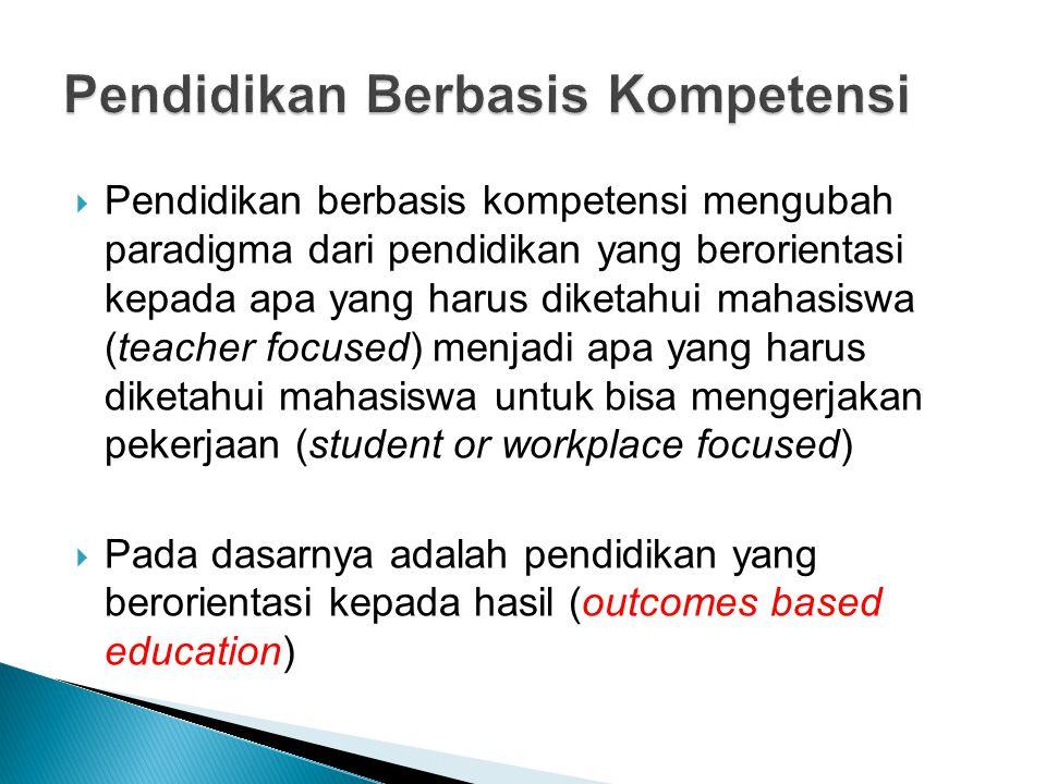 Pendidikan Berbasis Kompetensi
