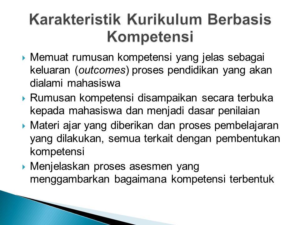 Karakteristik Kurikulum Berbasis Kompetensi