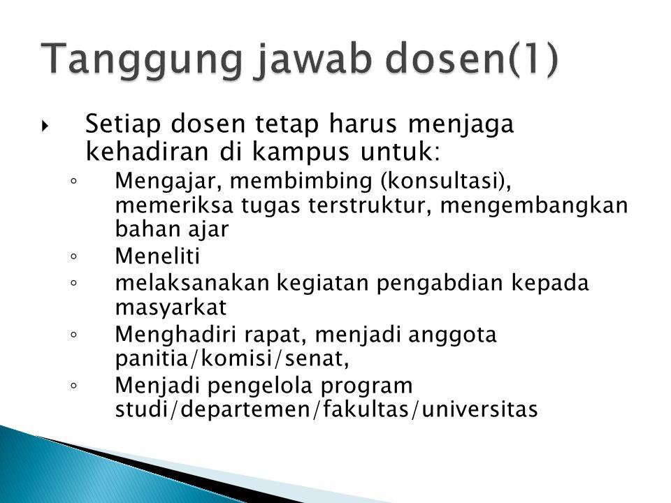 Tanggung jawab dosen(1)