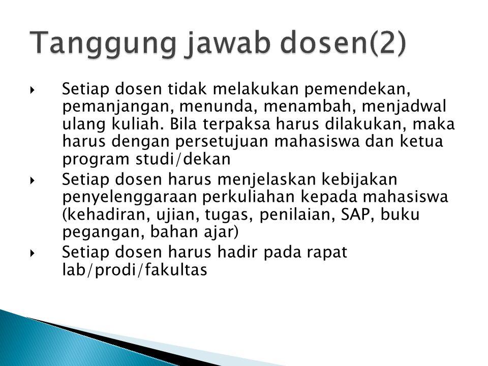 Tanggung jawab dosen(2)