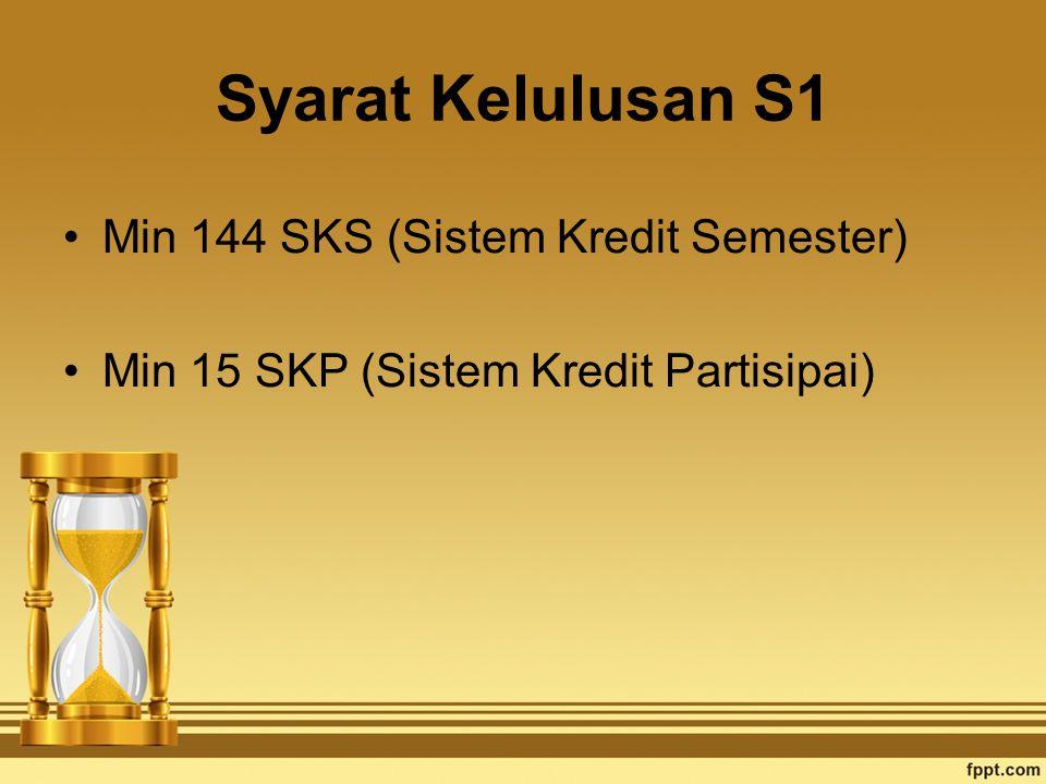 Syarat Kelulusan S1 Min 144 SKS (Sistem Kredit Semester)
