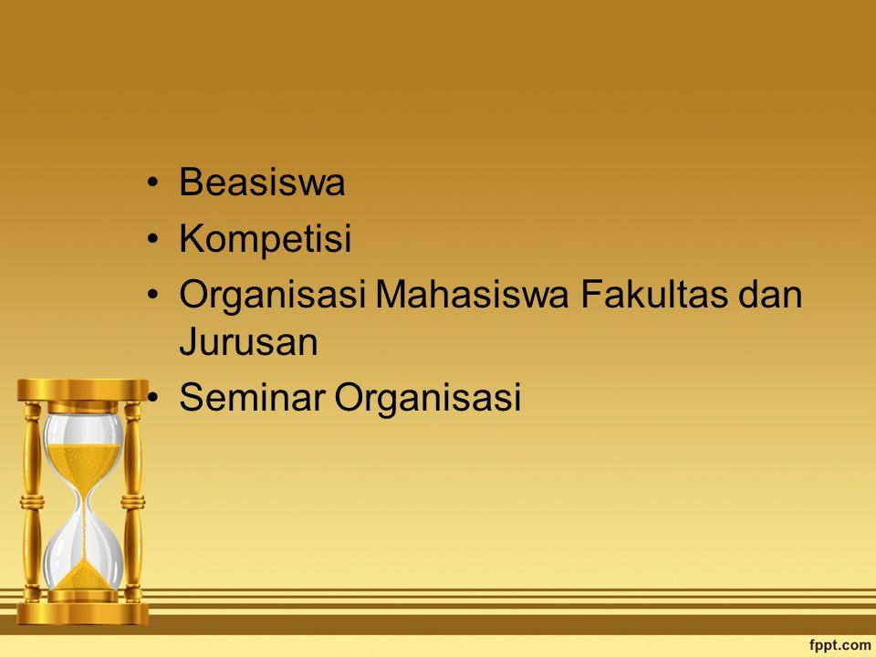 Beasiswa Kompetisi Organisasi Mahasiswa Fakultas dan Jurusan Seminar Organisasi