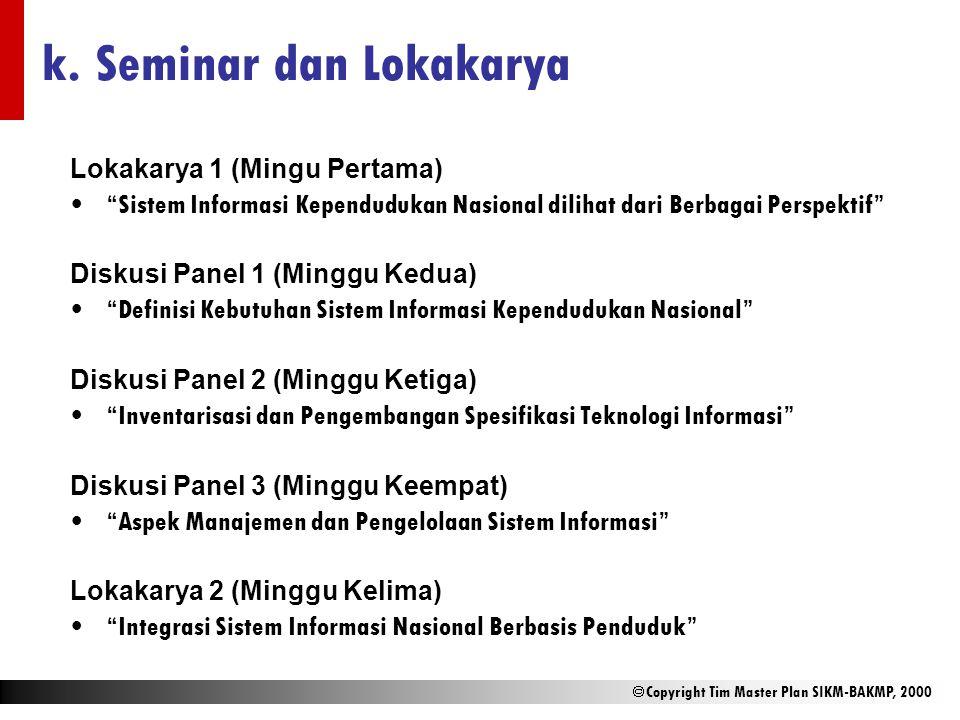 k. Seminar dan Lokakarya