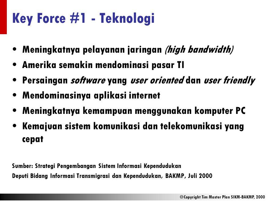 Key Force #1 - Teknologi Meningkatnya pelayanan jaringan (high bandwidth) Amerika semakin mendominasi pasar TI.