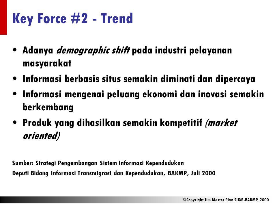 Key Force #2 - Trend Adanya demographic shift pada industri pelayanan masyarakat. Informasi berbasis situs semakin diminati dan dipercaya.