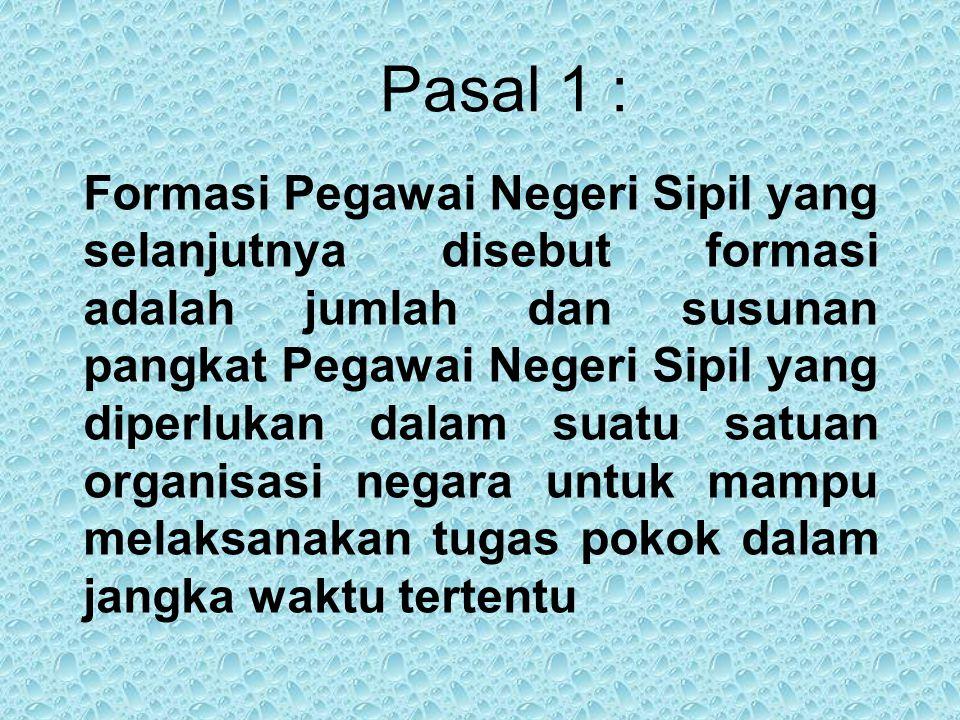 Pasal 1 :