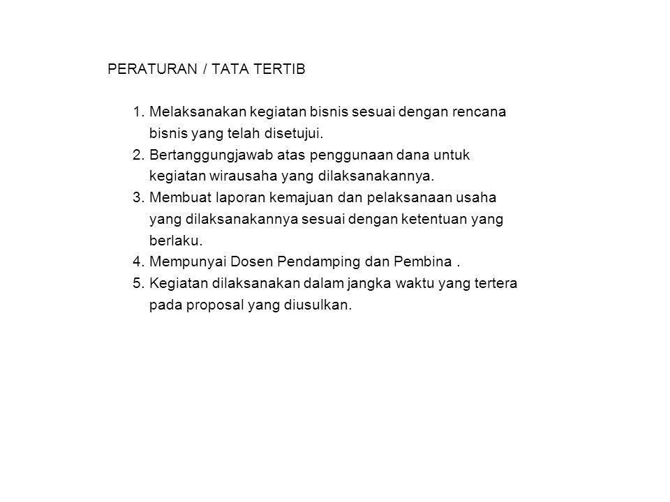 PERATURAN / TATA TERTIB 1