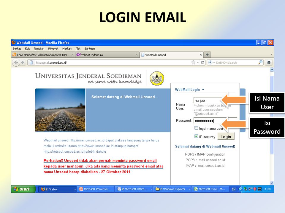 LOGIN EMAIL Isi Nama User Isi Password