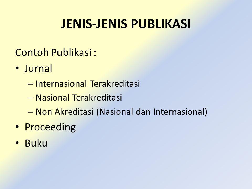 JENIS-JENIS PUBLIKASI