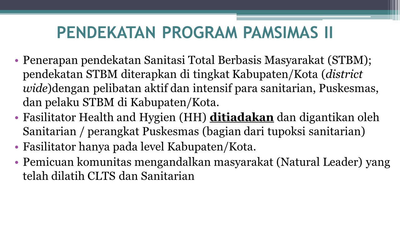 PENDEKATAN PROGRAM PAMSIMAS II