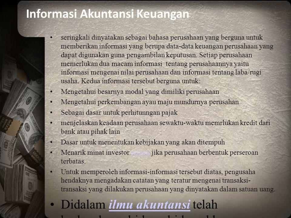 Informasi Akuntansi Keuangan