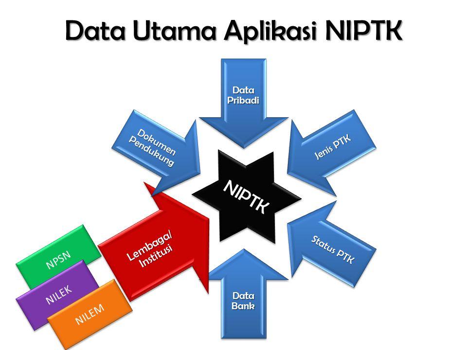 Data Utama Aplikasi NIPTK