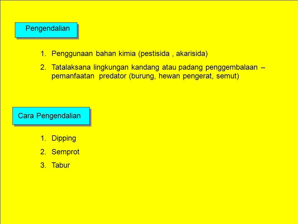 Pengendalian Penggunaan bahan kimia (pestisida , akarisida)