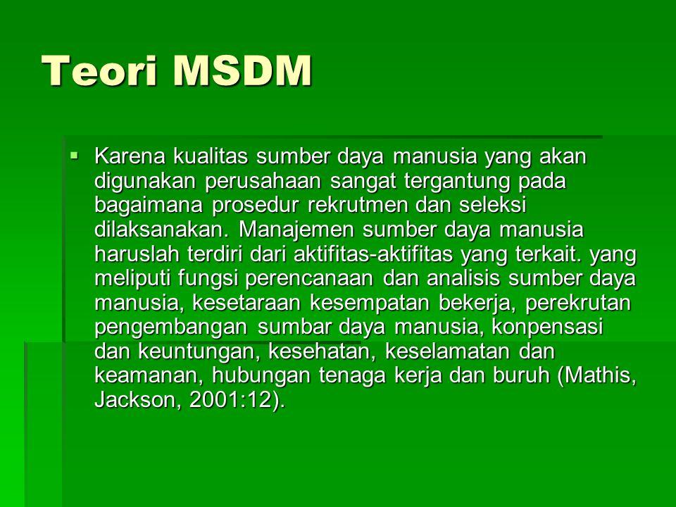 Teori MSDM