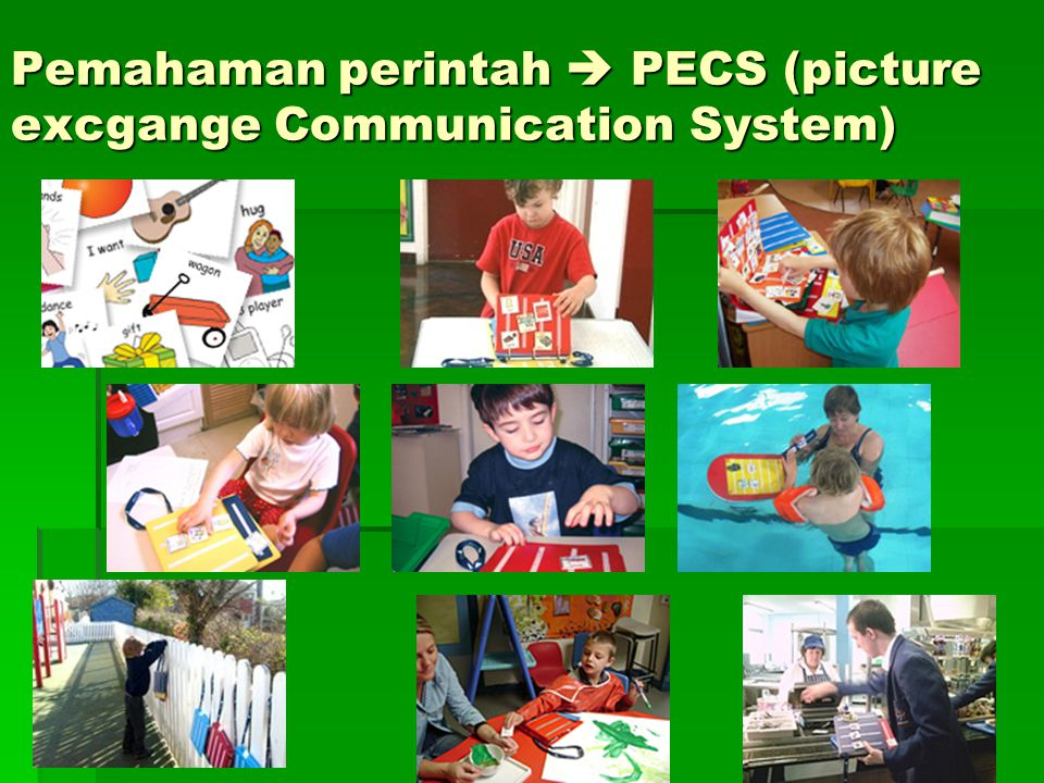 Pemahaman perintah  PECS (picture excgange Communication System)