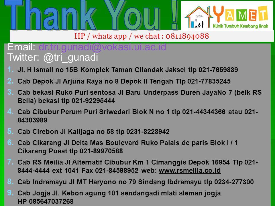 Thank You ! Email: dr.tri.gunadi@vokasi.ui.ac.id Twitter: @tri_gunadi