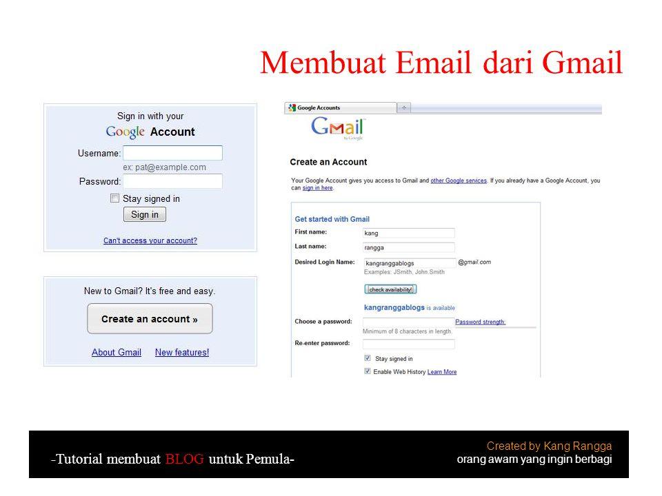 Membuat Email dari Gmail