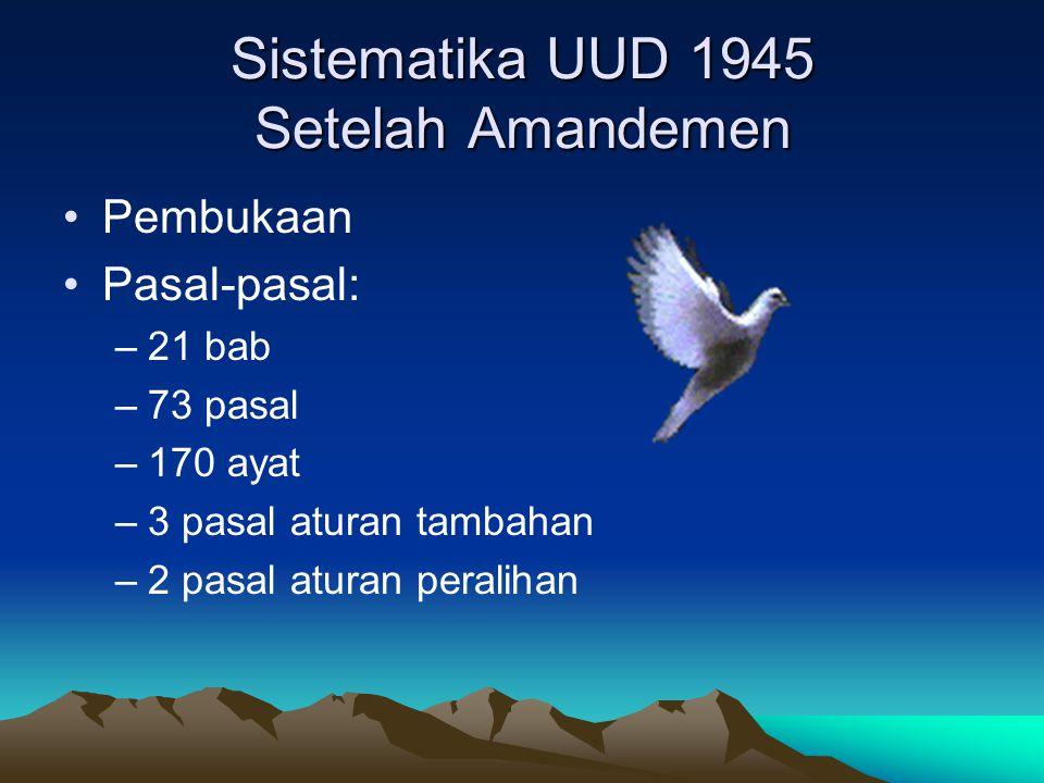 Sistematika UUD 1945 Setelah Amandemen