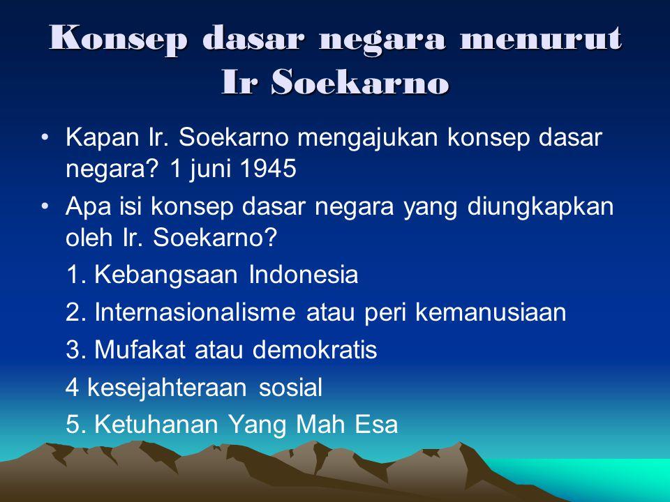 Konsep dasar negara menurut Ir Soekarno
