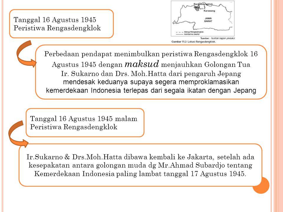 Ir. Sukarno dan Drs. Moh.Hatta dari pengaruh Jepang