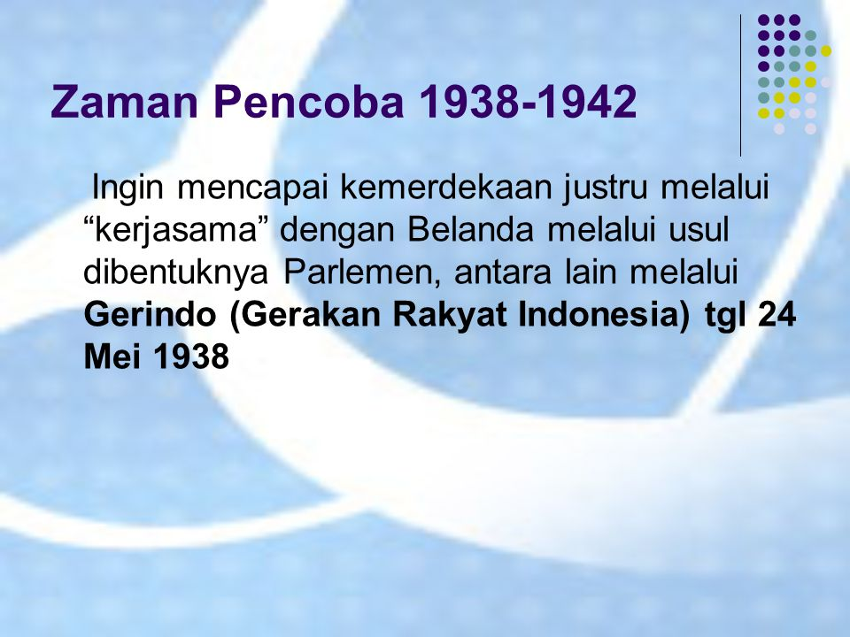 Zaman Pencoba 1938-1942