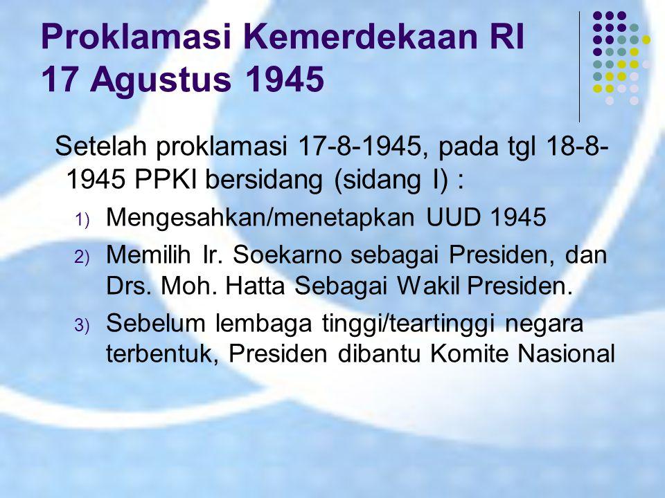 Proklamasi Kemerdekaan RI 17 Agustus 1945
