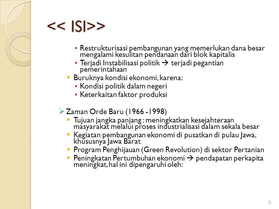 << ISI>> Restrukturisasi pembangunan yang memerlukan dana besar mengalami kesulitan pendanaan dari blok kapitalis.